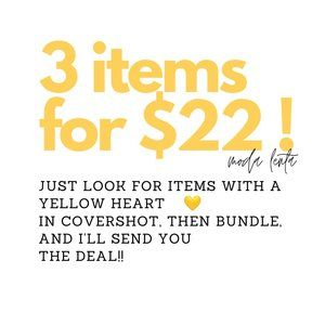 3 items for $22 Deal